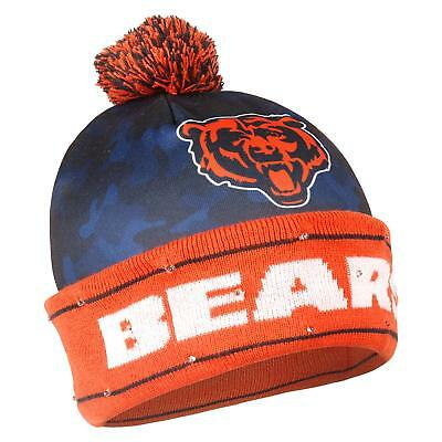 35d8c9f7277 NFL Chicago Bears Camouflage Light Up Printed Beanie L.E.D Winter Hat Cap