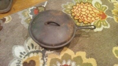 Vintage Antique Wagner Ware No 8 Cast Iron Cookware 10-1/2 Inch Skillet USA