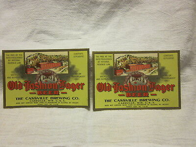 2 -- Old-Fashion Lager Beer -- Labels -- Cassville Brewing Co.