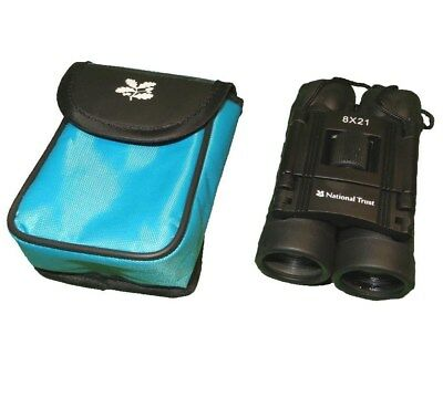 National Trust 8 x 21 binoculars compact in carry case new unused