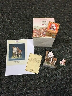 SIGNED by DAVID WINTER- Suffolk House figurine 1985 & Ornament & Paperwork NIB