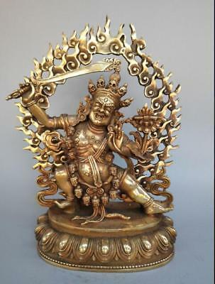Exquisite Tibet Buddhism Chinese exquisite pure brass Manjusri Buddha statue