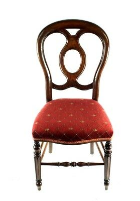 Antique Walnut Balloon Back Chair - FREE Shipping [PL4832]