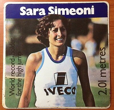 Adesivo Sara Simeoniworld Record Holder For The High Jump Vintage