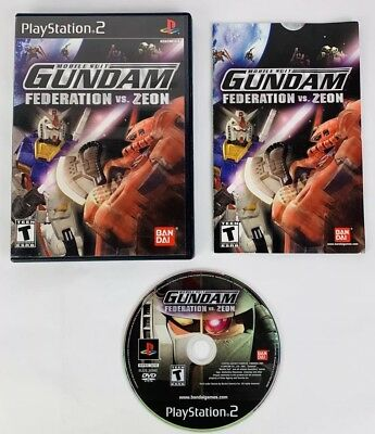 Mobile Suit Gundam: Federation vs. Zeon (Sony PS2) - Black Label - Complete
