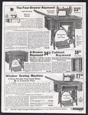 1919 Canadian paper ad Seamstress Raymond & Windsor sewing machines