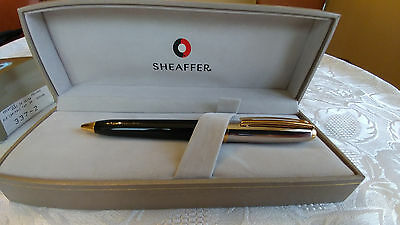 Sheaffer Prelude Ballpoint Pen, Black Lacquer with Palladium and Gold Cap