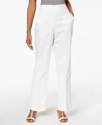 Alfred Dunner Solid Pull On Pants Proportioned Short Lavender