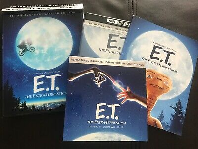ET Ultimate Edition - 4K, Blu Ray, CD Soundtrack, Digital HD Code, Movie Book!