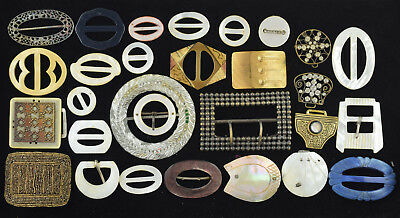 Large Lot of 29 Antique & Vintage Buckles & Half Buckles AS IS  ~ Lot 2813