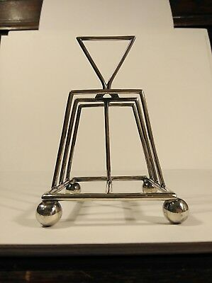 Christopher Dresser Style Aesthetic Movement Silver Plated Toast Rack No Reserve