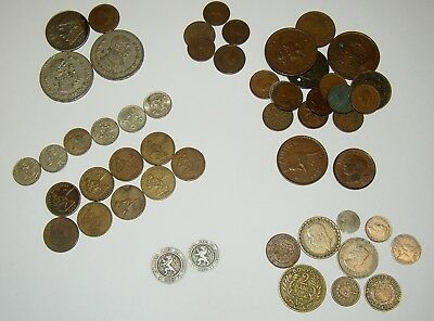 Mixed Lot of World Coins (Some Very Old)