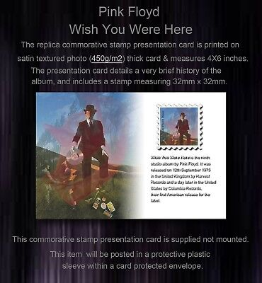 Pink Floyd Wish You Were Here Commemorative Stamp Presentation Card