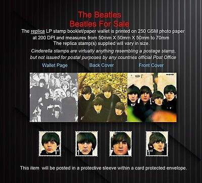 The Beatles The Beatles For Sale Replica Stamp Booklet Set