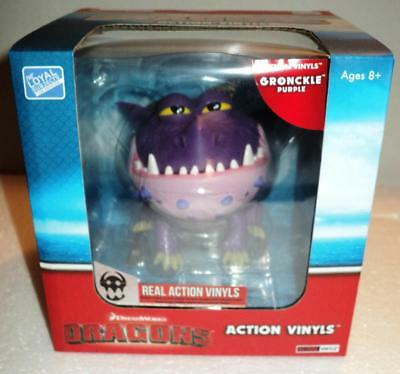 """THE LOYAL SUBJECTS- How to train your Dragons 7"""" Action PURPLE GRONCKLE 1/24 NIB"""