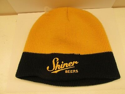 SHINER Beers Yellow & Black Knit Beanie Cap