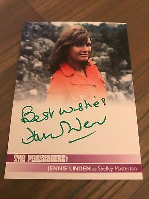 The Persuaders Jennie Linden As Shelley Masterton JL2 Autograph Card