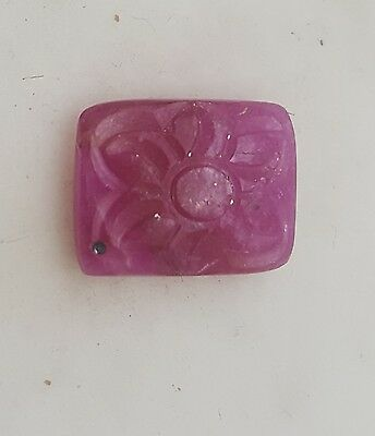 Natural Hand Carved Ruby Flower 13.5*10.5 Mm 8 Ct