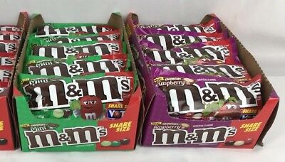 NEW 2018 M&M's VOTE Crunchy, Raspberry, Mint 3 Bags SHARE SIZE 2.83 OZ