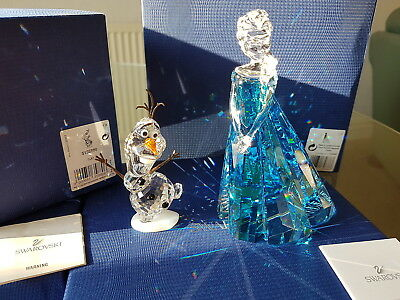 Swarovski Disney 2016 Frozen 'elsa & Olaf' Free Uk Post With Buy It Now