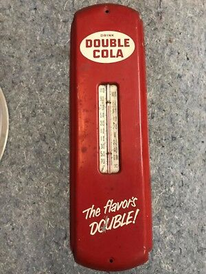 Drink Double Cola, working thermometer sign vintage collectible advertising