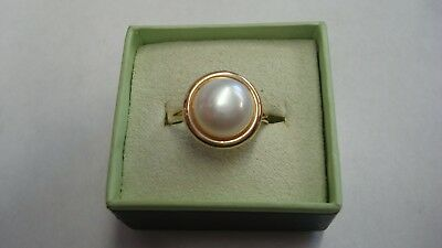 14K Gold  Fresh Water Pearl Ring Ross Simons SZ 8 2.7 grams