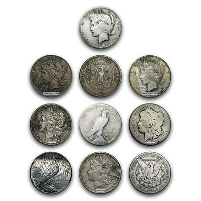 SPECIAL PRICE! Morgan &/or Peace Silver Dollar Cull (Random Year) - Lot of 10