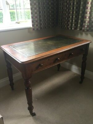 Antique Oak Desk with 2 drawers - very good condition