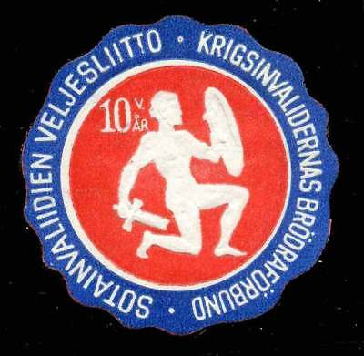 Finland Poster Stamp - Publicity for The Disabled War Veterans Assn. of Finland