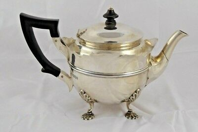 SMART ANTIQUE LATE VICTORIAN SOLID STERLING SILVER TEAPOT 1900 437 g