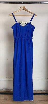 Vintage 1980s Blue Jumpsuit UK 8/10