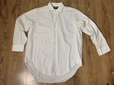 1950s Mens Vintage Artways White Cotton Long Sleeve Shirt