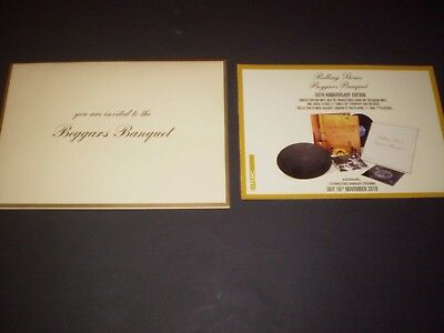 The Rolling Stones - Beggars Banquet Promotional Invite - Mint/Rare