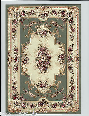 """1:12 Scale Dollhouse Aubusson Area Rug 0001018 - approximately 7 1/4"""" x 10 3/8"""""""