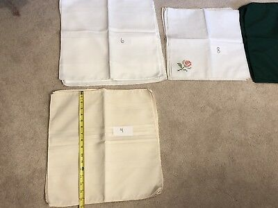Lot Assorted Vintage Linens Runners Hand Embroidered Napkins Table Cloth