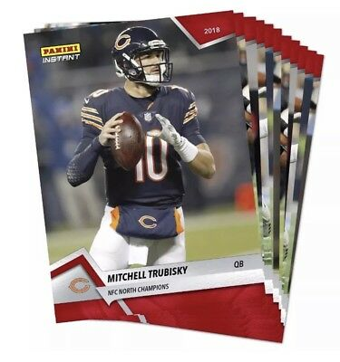 2018 Chicago Bears NFC NORTH CHAMPIONS Panini Instant 18 Card Team Set 125 Made