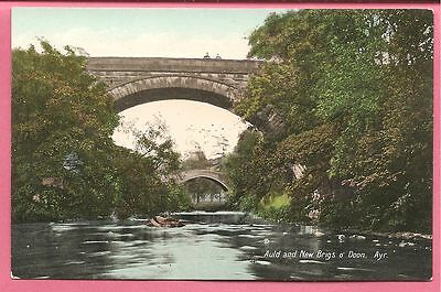 Auld and New Brigs o' Doon, Ayr, Ayrshire, Scotland postcard. Valentine's Series