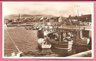 The Harbour, Girvan, Scotland postcard. Henderson's Real Photo Series.