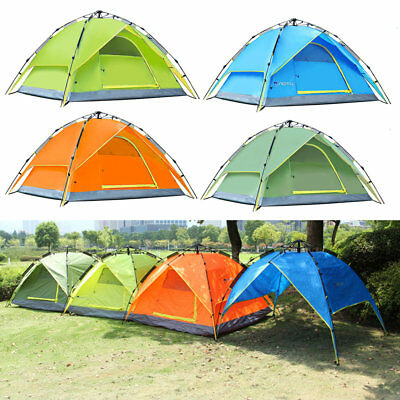 Waterproof 3-4 Person Double layer Automatic Instant Outdoor Camping Tent AZ