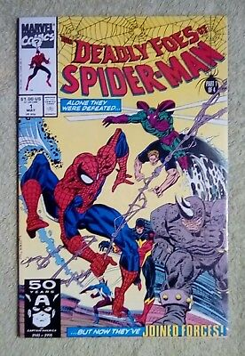 Deadly Foes of Spider-Man #1 (May 1991, Marvel) 9.2 NM- (Punisher app.)