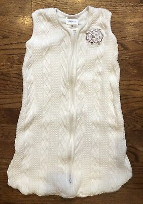 ca367dec93 Halo Sleepsack Cream Cable Knit Sheep Unisex Wearable Blanket Small S 0-6m