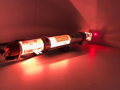 """Helium Neon Laser System Glass Tube 5.5mW 632.8nm HeNe 1.5"""" Dia x 14"""" - Tested"""