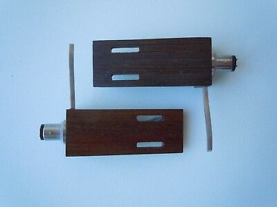 New !  Wood Cartridge Headshell Mount for Technics and other Turntables