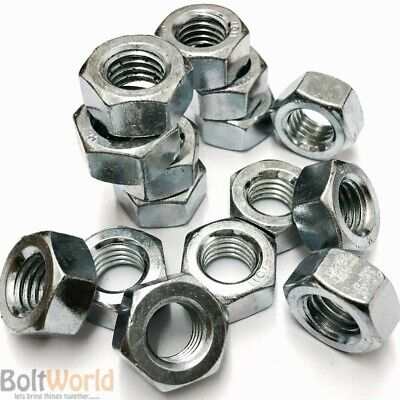 Unf Fine Thread 1/4, 5/16, 3/8, 1/2, 7/16, 5/8, 3/4 A2 Full Hexagonal Nuts Zinc
