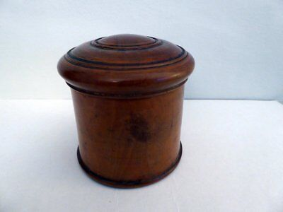 Antique Treen Jar & Cover ~ Handmade With Screw Top