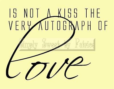 KISS OF LOVE Vinyl Wall Saying Lettering Quote Art Decoration Decal Sign Craft