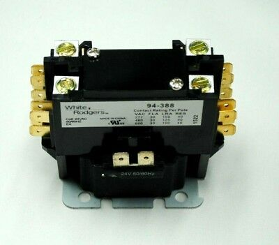 White-Rodgers 94-388 94388 1 Pole 30A 24V Contactor - New