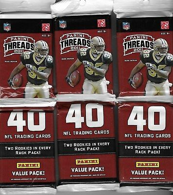 2011 Panini Threads Value  pack 40 cards per pack 2 rc per pack(3 PACK LOT)