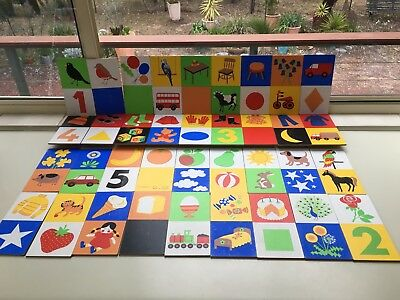 36 Vintage Arnold Association Wooden plaques.Speech Therapy.Education,baby decor