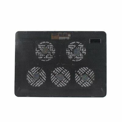 Gaming 5 Fans LED USB Cooling Stand Pad Cooler For 12''-17'' Laptop Notebook AZ